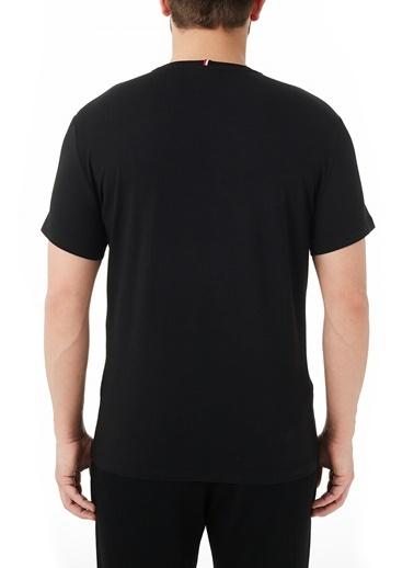 Lacoste  Pamuklu Baskılı Slim Fit Bisiklet Yaka T Shirt Erkek T Shırt Th0139 39S Siyah